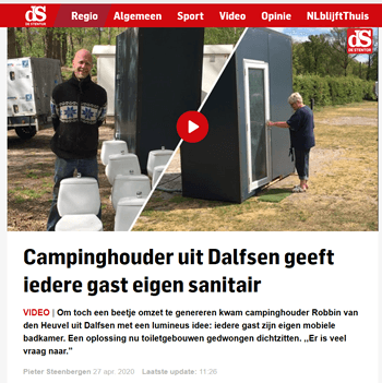 prive sanitair units in de Stentor